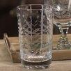 Zodax Spring Leaves Cut Design Hi Ball Glassware (Set of 8)