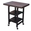 Oasis Concepts Folding Kitchen Cart with Wood Top