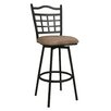 "Pastel Furniture Geneva 30"" Swivel Bar Stool with Cushion"
