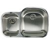 "Nantucket Sinks Sconset 32.5"" x 20.69"" Double Bowl Undermount Kitchen Sink"