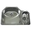 "Nantucket Sinks 32"" x 21.25"" 80/20 Undermount Kitchen Sink with Mirror Deck"