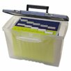 Storex Portable File Box with Organizer Lid Legal/Letter