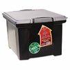 Storex Portable File Tote with Locking Handle Storage Box