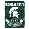 Northwest Co. Collegiate Michigan State Rebel Raschel Throw