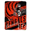 Northwest Co. NFL Bengals Deep Slant Micro Raschel Throw