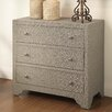 Crestview Collection Springfield 3 Drawer Nailhead Chest