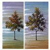 Crestview Collection Twins 2 Piece Painting Print Set