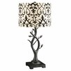 """Crestview Collection Wispering Vine 27.5"""" H Table Lamp with Drum Shade"""