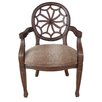 Crestview Collection Savannah Spider Back Animal Print Arm Chair