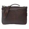 Piel Leather Entrepreneur Double Executive Laptop Briefcase