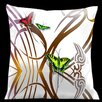 Lama Kasso Butterflies and Beauty Throw Pillow