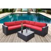 Bellini Home and Garden Pasadina Conversation Sectional 6 Piece Deep Seating Group with Cushions