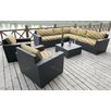 Bellini Home and Garden Pasadina 8 Piece Deep Seating Group with Cushion