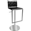 Bellini Modern Living Sigma Adjustable Height Swivel Bar Stool with Cushion