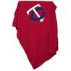Logo Chairs MLB Minnesota Twins Red Sweatshirt Blanket