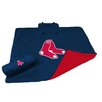 Logo Chairs MLB Boston Red Sox All Weather Fleece Blanket