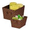 Honey Can Do 2 Piece Woven Basket Set