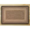Earth Rugs Chocolate/Natural Braided Area Rug