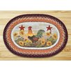 Earth Rugs Morning Rooster Printed Area Rug