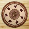 Earth Rugs Burgundy Stars Printed Area Rug