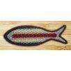 Earth Rugs Rainbow 1 Fish Shaped Rug