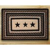 Earth Rugs Black Stars  Printed Area Rug