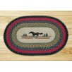 Earth Rugs Horse Printed Area Rug