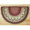 Earth Rugs Cranberries Printed Red Slice Area Rug