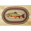 Earth Rugs Trout Printed Area Rug