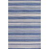 Dash and Albert Rugs Cottage Stripe French Blue Wool Rug