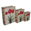 Cheungs 3 Piece Book Box with Vintage Belladonna Lily Set