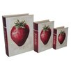 Cheungs 3 Piece Book Box with Vintage Strawberry Set