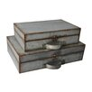Cheungs 2 Piece Metal Suitcase Set
