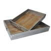 Cheungs Osum 2 Piece Tray Set with Wood Bottom