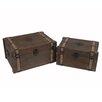 Cheungs 2 Piece Wooden Trunks Set