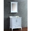 "Ariel Bath Nantucket 30"" Single-Sink Bathroom Vanity Set with Mirror"
