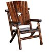 United General Supply CO., INC Char-Log Cut Out Star Arm Chair II