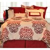 Pointehaven Cherry Blossom Bed in a Bag Set in Red