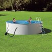 """Blue Wave Products Round 52"""" Deep Presto Steel Wall Swimming Pool Package"""