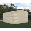 Duramax Building Products WoodBridge 10.5 Ft. W x 10.5 Ft. D Vinyl Storage Shed
