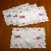 Violet Linen Seville Embroidered Vintage Lace Placemat (Set of 4)