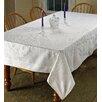 Violet Linen Lisbon Embroidered Vintage Tablecloth