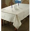 Violet Linen Rivierra Embroidered Tablecloth