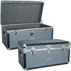 Seward Trunk Classic Silver Trunk with FullTray