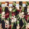 Hanalei Home Orchids Cotton Tab Top Single Curtain Panel