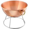 Mauviel M'passion Medium Copper Mixing Bowl with Bronze Ring Handle