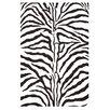 Acura Rugs Contempo White/Black Area Rug