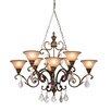 Artcraft Lighting Florence 8 Light Oval Chandelier
