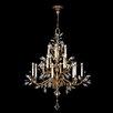 Fine Art Lamps Crystal Laurel Gold 16 Light Chandelier