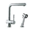 Franke Single Handle Single Hole Arc Spout Kitchen Faucet with Side Spray